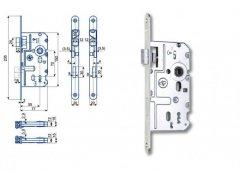 Zámek Hobes K 220 72/77 ŽELEZÁŘSTVÍ - Zámky - Zadlabávací zámky - Zadlabávací zámky na vložku, na klíč - Zadlabávací zámky na klíč rozteč 72