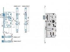 Zámek Hobes K 320 72/77 - s plastovou střelkou ŽELEZÁŘSTVÍ - Zámky - Zadlabávací zámky - Zadlabávací zámky na vložku, na klíč - Zadlabávací zámky na klíč rozteč 72