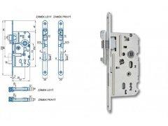 Zámek Hobes K 330 72/77 - s plastovou střelkou a závorou ŽELEZÁŘSTVÍ - Zámky - Zadlabávací zámky - Zadlabávací zámky na vložku, na klíč - Zadlabávací zámky na klíč rozteč 72