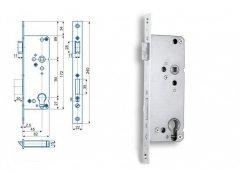 Zámek Hobes K 450 se zádlabem 62 mm ŽELEZÁŘSTVÍ - Zámky - Zadlabávací zámky - Zadlabávací zámky na vložku, na klíč - Zadlabávací zámky na vložku rozteč 90