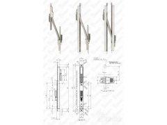 Kabelová zadlabací rozpojitelná průchodka 10314-10-10 do křídla dveří/zárubně DVEŘE - Samozamykací zámky - Samozamykací zámky doplňky - Kabely a Kabelové průchodky