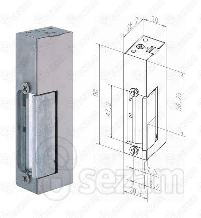 Elektrický otevírač effeff 34.460-20105 E91 12V DC