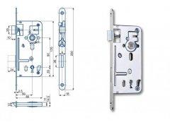 Zámek Hobes 537C 90/80 na obyč. klíč ŽELEZÁŘSTVÍ - Zámky - Zadlabávací zámky - Zadlabávací zámky na vložku, na klíč - Zadlabávací zámky na klíč rozteč 90