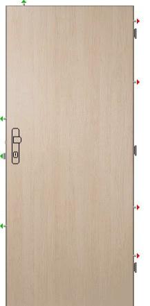 Speciál - K245/3 šíře 80 - Bezpečnostní dveře Sherlock