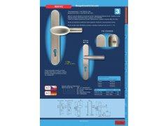 Dveřní kování R801PZ.TB3 klika/klika DVEŘE - Dveřní kování, dveřní příslušenství - Bezpečnostní kování - Bezpečnostní kování Richter