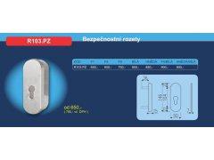 Bezpečnostní přídavné kování R103.PZ DVEŘE - Dveřní kování, dveřní příslušenství - Bezpečnostní kování - Bezpečnostní rozetové kování, přídavné kování - Přídavné bezpečnostní kování