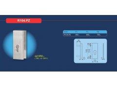 Bezpečnostní přídavné kování R104.PZ DVEŘE - Dveřní kování, dveřní příslušenství - Bezpečnostní kování - Bezpečnostní rozetové kování, přídavné kování - Přídavné bezpečnostní kování