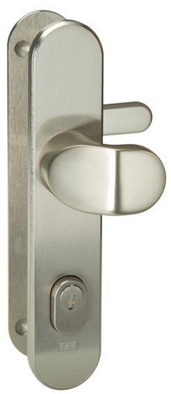 Bezpečnostní kování FAB S408/90 klika - madlo - Bezpečnostní kování Fab