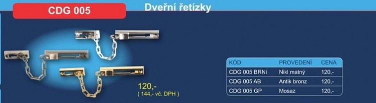 Dveřní řetízek CDG 005 - Dveřní příslušenství