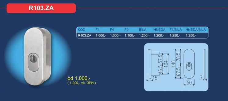 Bezpečnostní přídavné kování R103.ZA