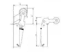 Dveřní zavírač Justor, vel. FR 1, šířka dveří - 900 mm, nerez Dveře - Dveřní zavírače - Dveřní zavírače doplňky