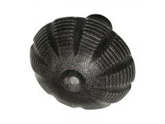 Dveřní koule, osazení 18 mm, ocel pozink černě lakovaný DVEŘE - Dveřní kování, dveřní příslušenství - Interiérové kování - Dveřní kování tepané železo