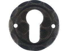 Rozeta na vložku, ø 50 mm, osazení 18 mm, pozink černý lakovaný DVEŘE - Dveřní kování, dveřní příslušenství - Interiérové kování - Dveřní kování tepané železo