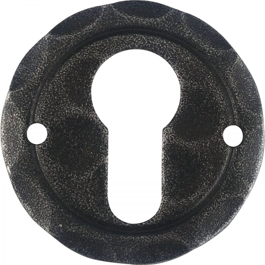 Rozeta na vložku, ø 50 mm, osazení 18 mm, pozink černý lakovaný