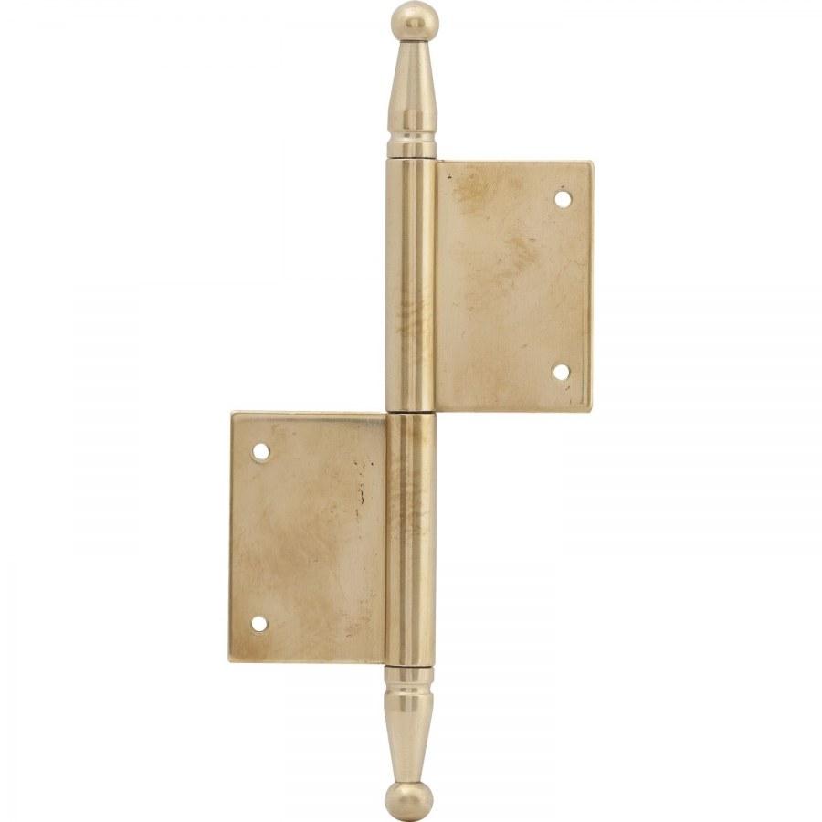 Dveřní zasekávací závěs s ozdobnou hlavou, 100 x 160 mm, mosaz leštěná