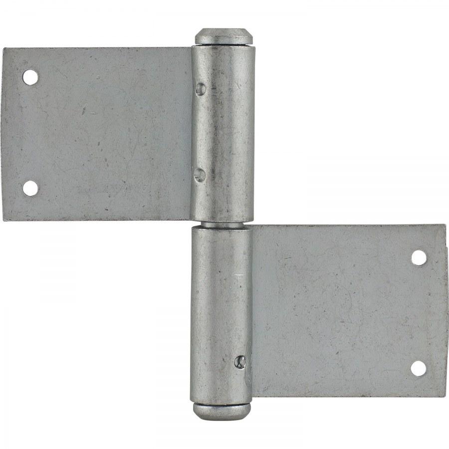 Dveřní zasekávací závěs, čep ø 11 mm, výška závěsu 90 mm, ocel pozink. - Dveřní závěsy zasekávací