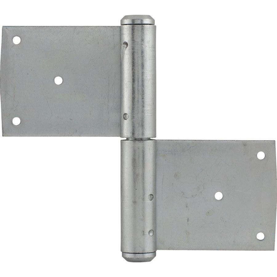 Dveřní zasekávací závěs, čep ø 13 mm, výška závěsu 120 mm,ocel pozink. - Dveřní závěsy zasekávací