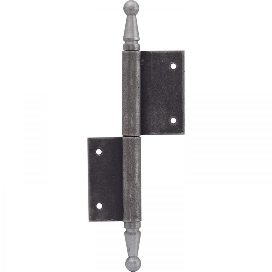 Dveřní závěs s ozdobnou hlavou,140 x 210 mm, ocel surová - Dveřní závěsy zasekávací