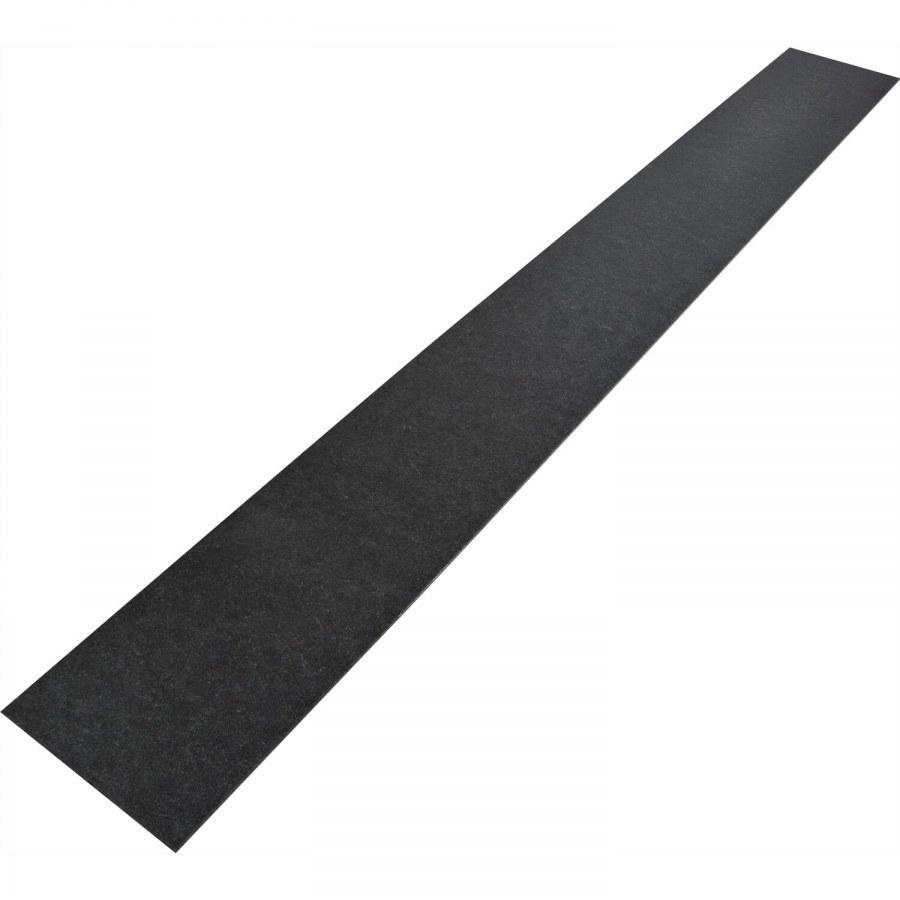 Okopový plech 1000 x 120 x 1,5 mm, ocel pozink černě pasivovaná - Dveřní těsnění, prahy, těs. kartáče, okopové plechy