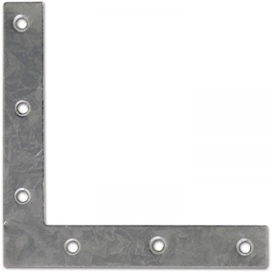 Úhelník pro vyztužení hranatý, vel. 4, 100 x 100 x 16 x 1,0 mm, ocel pozink - Úhelníky pro vyztužení