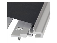 Ochrana prstů FSR 6000 Quick, 2015 mm, hliník stříbrný elox, umělé vlákno černé Dveře - Dveřní panty, Dveřní závěsy - Ochrana proti přivření prstů