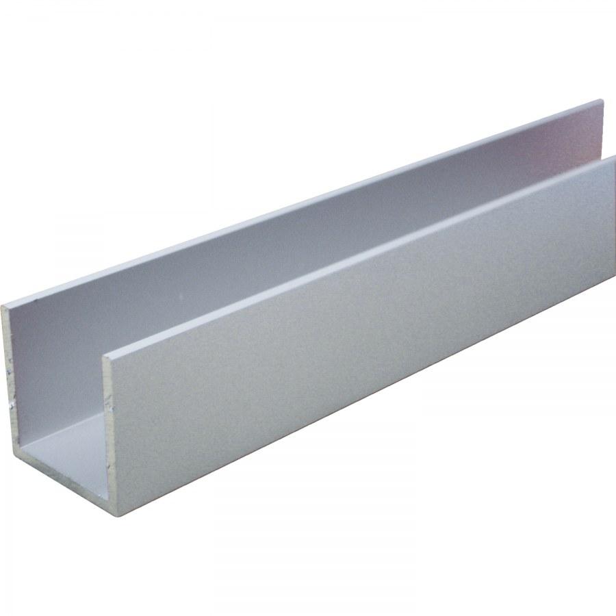 Hliníkový U-profil nerez efekt A1/C31 rovnoramenný 15/15/15/2 mm - Hliník