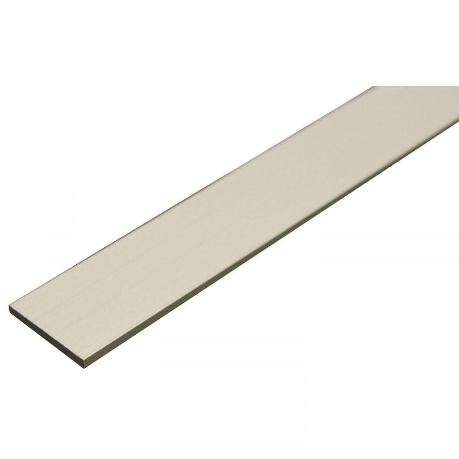 Hliníková plochá tyč AlMgSi 0,5 (6060) F22 elox E6/EV1 20/2 mm - Hliník
