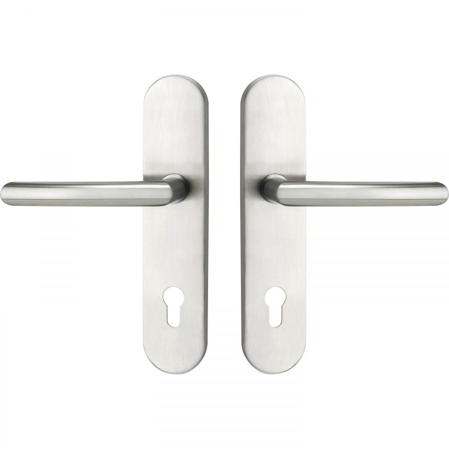 Bezpečnostní kování ARC, klika-klika, PZ 92 mm, bez zakrytí vložky, nerez
