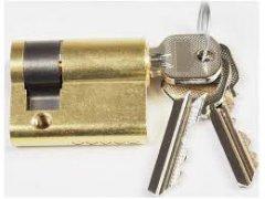 Jednostranná cylindrická vložka Fab 50 (půlvložka) DVEŘE - Cylindrické vložky - Cylindrické vložky jednostranné, půlvložky - do 400,-