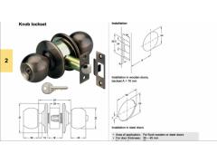 Otočná koule uzamykatelná starobronz (americká koule) DVEŘE - Dveřní kování, dveřní příslušenství - Otočné koule (americké koule)