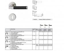 Kování Bisshop Ebenholz 1935/7/607 Ni mat na klíč DVEŘE - Dveřní kování, dveřní příslušenství - Interiérové kování - Objektové protipožární kování - kování nad 1500,-