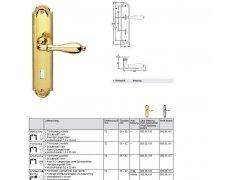 Belle Epoque S 933/983 mosaz na klíč rozteč 72mm DVEŘE - Dveřní kování, dveřní příslušenství - Interiérové kování - Objektové protipožární kování - kování nad 1500,-