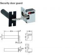 Bezpečnostní pojistka na dveře nerez+zinek povrch mat DVEŘE - Dveřní kování, dveřní příslušenství - Dveřní příslušenství