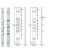 Ocelová pojistka proti vysazení dveří pozink DVEŘE - Dveřní kování, dveřní příslušenství - Dveřní příslušenství