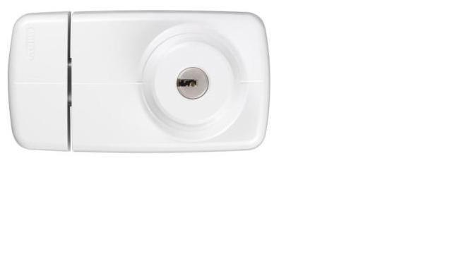ABUS 7025 bílý bezpečnostní přídavný zámek - Přídavné zámky ABUS