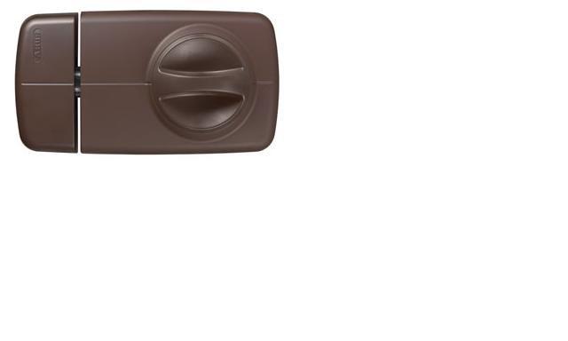 ABUS 7010 hnědý bezpečnostní přídavný zámek s knoflíkem - Přídavné zámky ABUS