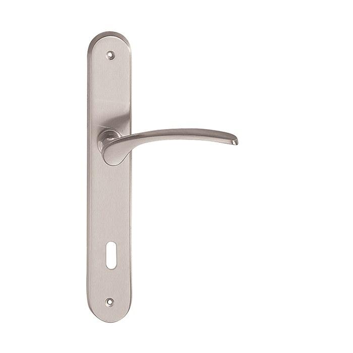 Dveřní štítkové kování LEKO OTZI BA Z1420 WC/NI-SAT 90mm
