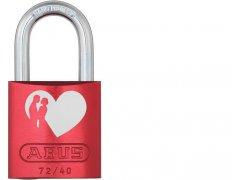 ABUS 72/40 Love Lock red visací zámek ŽELEZÁŘSTVÍ - Visací zámky - Vis. zámky do 800,- kč