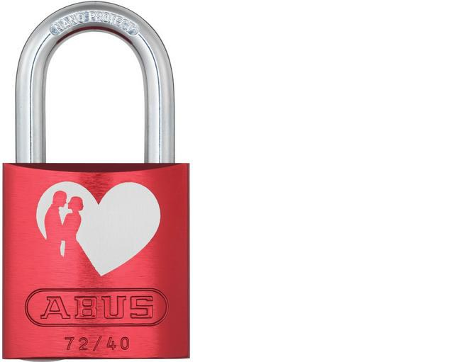 ABUS 72/40 Love Lock red visací zámek - Vis. zámky do 800,- kč