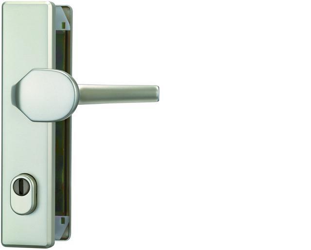 ABUS bezpečnostní kování KLZS714 hranatá kl+knofl/72mm - rozteč 72mm