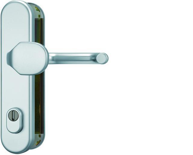 ABUS bezpečnostní kování KLZS714 kulatá kl+knofl/72mm - rozteč 72mm
