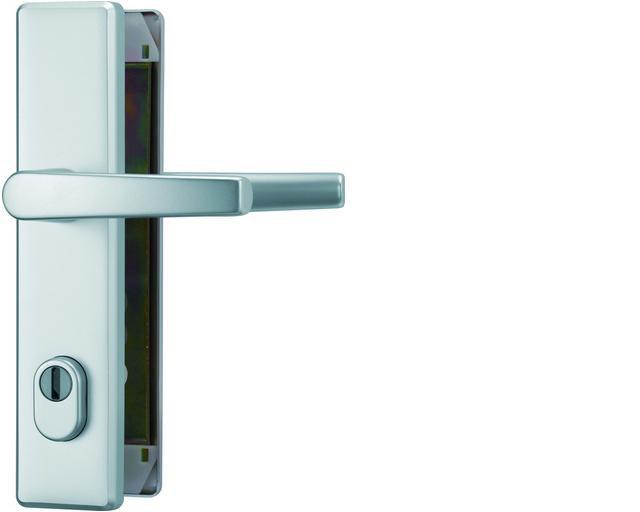 ABUS bezpečnostní kování KLZS714 hranatá kl+kl/72mm - rozteč 72mm