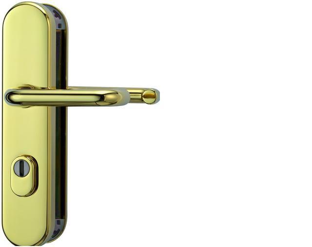ABUS bezpečnostní kování KLZS714 kulatá kl+kl/72mm - rozteč 72mm
