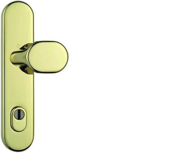 ABUS bezpečnostní kování HLZS814 kulatá kl+knofl/92mm - rozteč 92mm