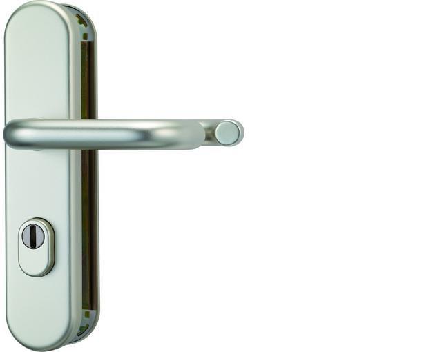 ABUS bezpečnostní kování HLZS814 kulatá kl+kl/92mm - rozteč 92mm