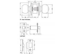 Otočná koule WC (americké koule) DVEŘE - Dveřní kování, dveřní příslušenství - Otočné koule (americké koule)