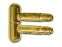 Závěs k zavrtání, 13 mm, s kulatou hlavou, ocel pozlacená OKNA - Okenní sortiment, panty - Okenní panty - příslušenství - Jednoduchý závěs kulatý 13mm
