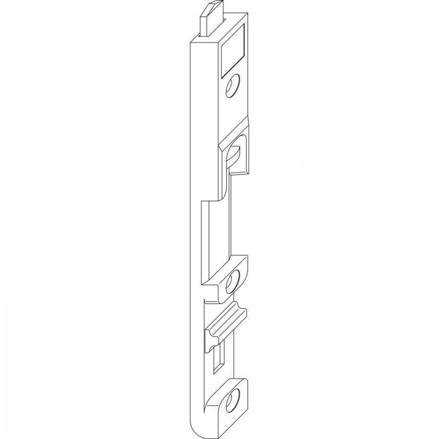 Hranová zástrč MACO-MULTI 4L, horní, ocel pozinkovaná stříbrná (55430) - Dveřní zástrč MACO-MULTI pro 4 mm falc
