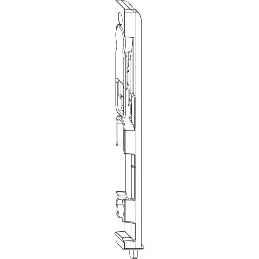 Hranová zástrč MACO-MULTI 4L, spodní, ocel pozinkovaná stříbrná (55409) - Dveřní zástrč MACO-MULTI pro 4 mm falc