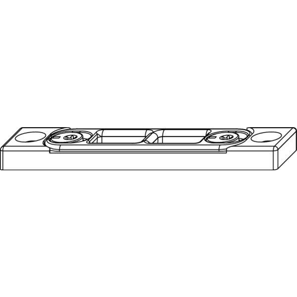 Uzávěr zástrče MACO-Multi, 4L, spodní, zinkový odlitek stříbrný - Protikus k dveřní zástrči MACO-MULTI